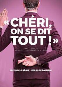 Affiche du spectacle tout public à Biarritz : Chéri on se dit tout