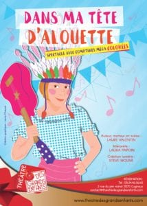 Affiche du spectacle pour enfants Dans ma tête Alouette, au café théâtre Le Petit Bijou à Biarritz