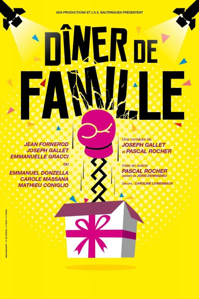 Affiche Diner de famille au café théâtre Biarritz Le Petit Bijou