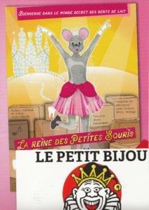 Affiche du spectacle pour enfants La Reine des Petites Souris, au café théâtre Le Petit Bijou à Biarritz