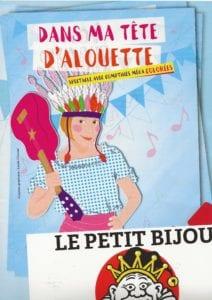 Affiche du spectacle pour enfants Dans ma tête d'alouette, au café théâtre Le Petit Bijou à Biarritz