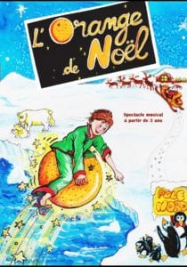 Affiche du spectacle pour enfants l'orange de Noel