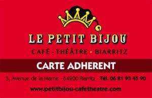 Réduction théâtre le petit Bijou à Biarritz adhérents