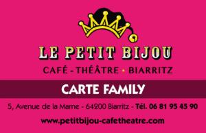 carte café-théâtre. se marrer. sortir à biarritz.