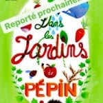 """affiche du spectacle pour enfant """"Dans les jardins de Pépin"""" thatre pour enfant à biarritz"""