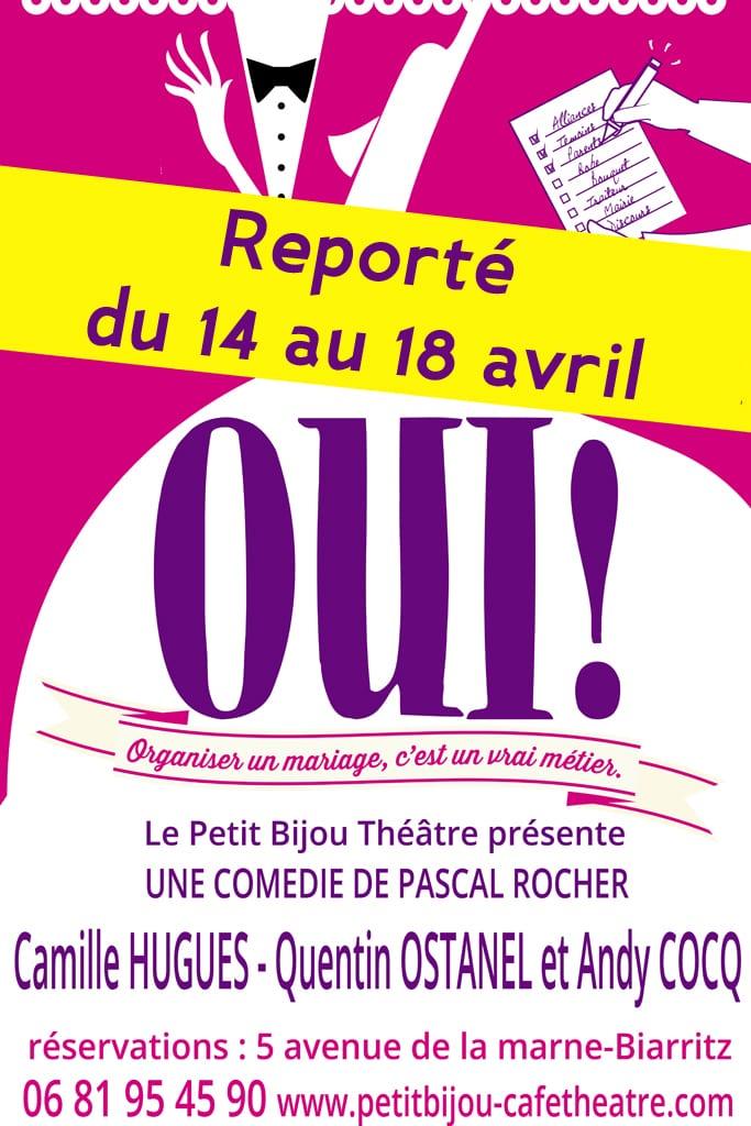 Affiche du spectacle 'OUI'humour au théâtre à Biarritz le petit bijou