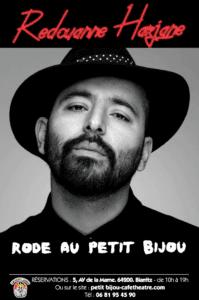 Affiche du spectacle de Redouanne Harjane one man show au petit bijou