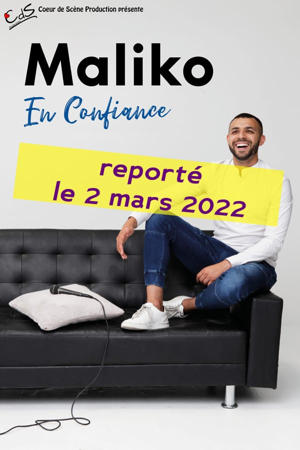 Affiche du one man show de Maliko