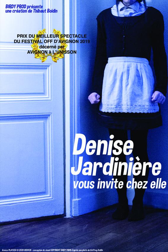 Affiche du spectacle Denise jardinière humour au théâtre à Biarritz le petit bijou