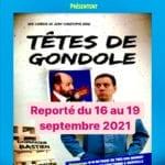 Affiche du spectacle Têtes de gondole, spectacle d'humour à Biarritz café théâtre : Le Petit Bijou
