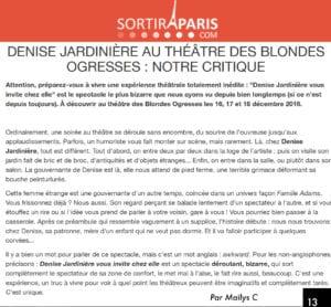 """Article dans sortiraparis.com sur la pièce """"Têtes de gondole"""""""