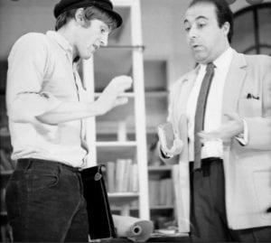 Jean-Laurent Cochet avec son élève Gérard Depardieu