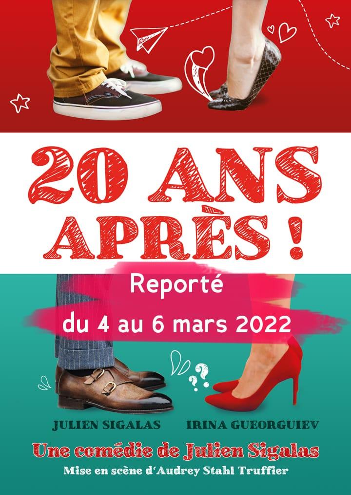 Affiche du spectacle d'humour 20 ans après à Biarritz café théâtre : Le Petit Bijou