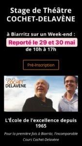 Affiche du Stage de Théâtre Cochet-Delavène