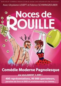 Affiche de Noces de Rouille Spectacle comédie au café théâtre le petit bijou Biarritz