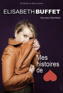 """Affiche d'Elisabeth Buffet """"Mes Histoires de Coeur"""""""