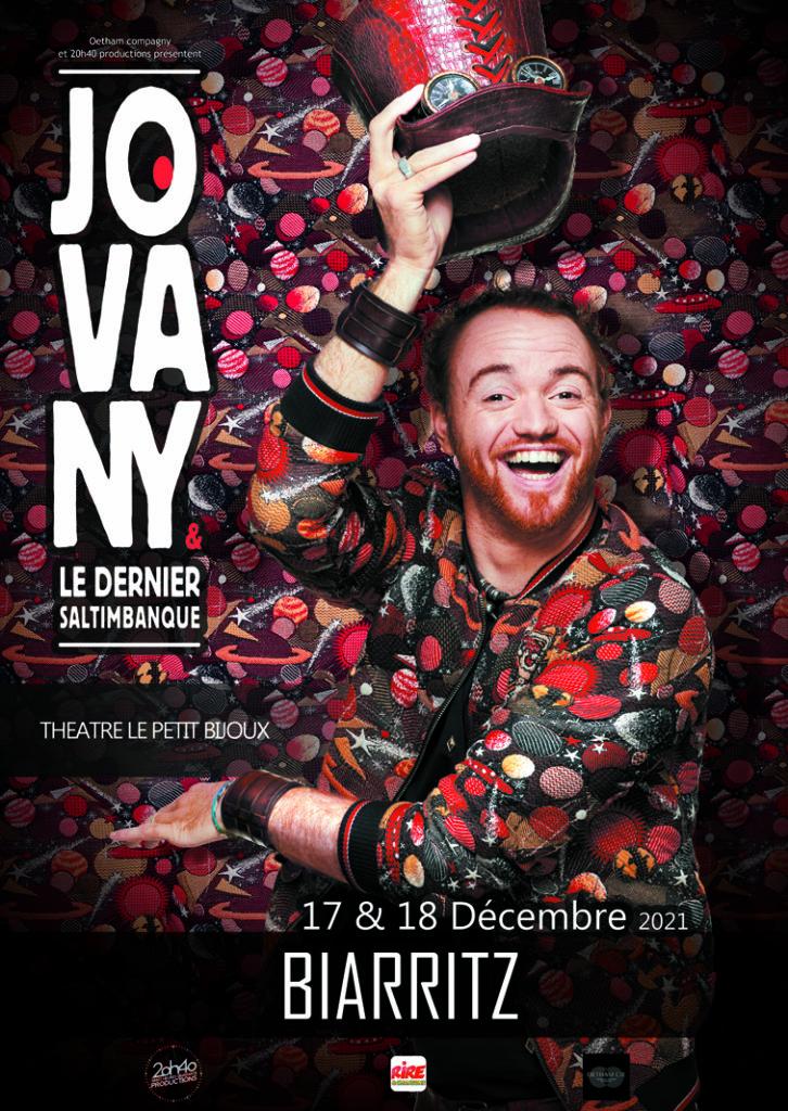 Affiche du spectacle Jovany à Biarritz café théâtre le Petit Bijou