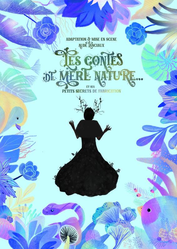 """Affiche du spectacle pour enfants """"Les contes de Mère Nature"""" au café théâtre Biarritz Le Petit Bijou"""