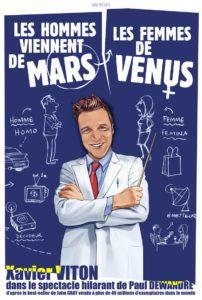 Affiche du spectacle Les hommes viennent de Mars, les femmes de Vénus